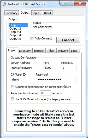 SHOUTcast DSP | NewAirHost | Internet radio streaming